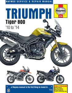 Triumph Tiger 800 2010-2014 Repair Manual