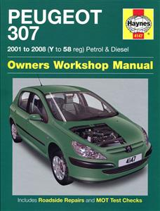 Peugeot 307 2001-08 Repair Manual Petrol & Diesel
