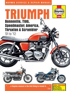 Triumph Bonneville T100 America Speedmaster Thruxton And Scrambler 2001-2012 Repair Manual