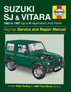 Suzuki SJ & Vitara 1982-1997 Repair Manual 4 Cylinder Petrol