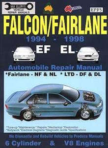 Ford Falcon EF & EL 1994-98 Repair Manual 6 & 8 Cylinder inc DF-DL Fairlane & NF-NL LTD