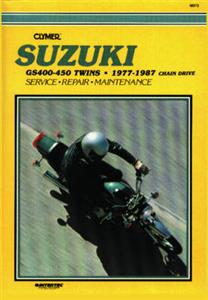 Suzuki GS400-450 Chain Drive 1977-1987 Repair Manual