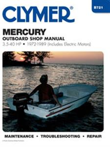 Mercury 45-225 HP Outboards 1972-1989 Repair Manual - Includes Chrome Molly Inners