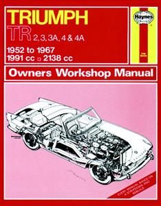 Triumph TR2 3 3A 4 And 4A 1952-67 Repair Manual CLASSIC REPRINT