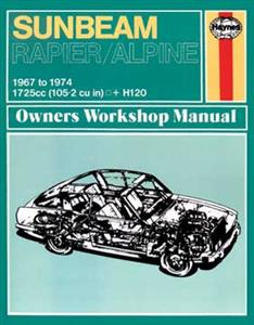 Sunbeam Alpine Rapier & H120 1967-74 Repair Manual