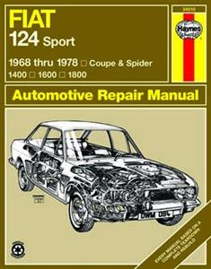 Fiat 124 Sport Coupe & Spider 1968-78 Repair Manual 1.4 1.6 1.8