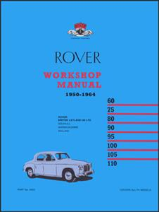 Rover P4 1950-64 Factory Workshop Manual