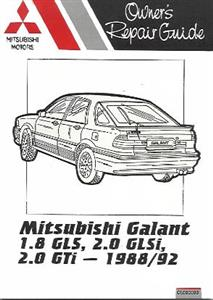 Mitsubishi Galant Petrol 1988-92 Pocket Owners Repair Manual OUT OF PRINT