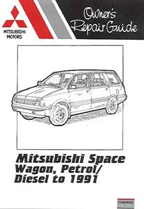 Mitsubishi Spacewagon Petrol & Diesel to 1991 (NZ Chariot) Pocket Repair Manual