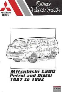 Mitsubishi L300 1.6 Petrol & 2.5 Diesel 1987-92 (inc import Delica) Pocket Repair Manual