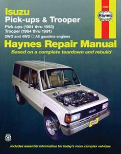 Isuzu Pickups 1981-93 & Trooper (Bighorn) 1984-91 Repair Manual Petrol