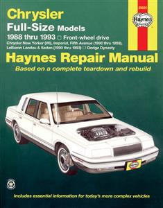 Chrysler Full Size FWD 1988-93 Repair Manual