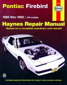 Pontiac Firebird 1982-92 Repair Manual