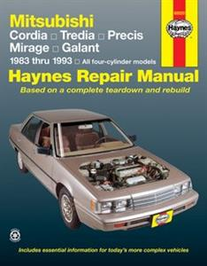 Mitsubishi Cordia Tredia Mirage Galant 1983-93 Repair Manual