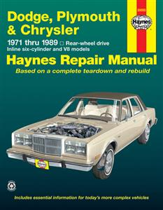 Chrysler/Plymouth/Dodge Full Size RWD 1971-89 Repair Manual
