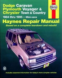 Dodge & Plymouth Mini Vans 1984-95 Repair Manual