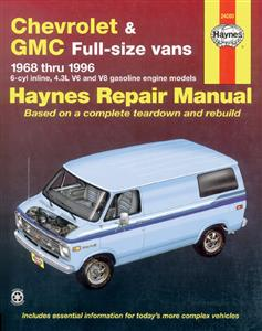 Chevrolet & GMC Full Size Vans 1968-96 Petrol Repair Manual