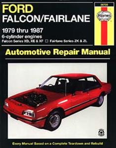 Ford Falcon XD XE XF & Fairlane ZK ZL 1979-87 Repair Manual 6 cylinder