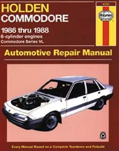 Holden Commodore VL 1986-88 Repair Manual 3.0 6 cylinder