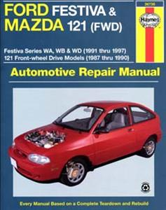 Ford Festiva WA WB WD 1991-97 Mazda 121 1987-90 Repair Manual