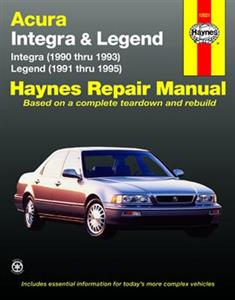 Acura Integra 1990-93 & Legend 1991-95 Repair Manual (NZ Honda)