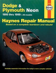 Dodge & Plymouth Neon 1995-99 Repair Manual (NZ Chrysler Neon)