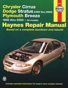Chrysler Cirrus Dodge Stratus & Plymouth Breeze 1994-2000 Repair Manual