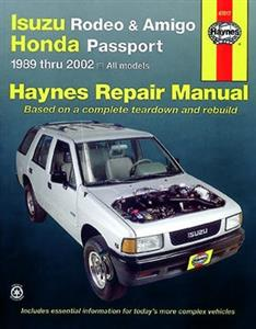 Isuzu Rodeo 1991-02 Isuzu Amigo 1989-02 And Honda Passport 1995-02 Repair Manual Petrol Only