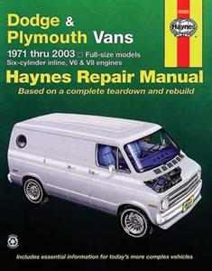 Dodge & Plymouth Vans 1971-2003 Repair Manual
