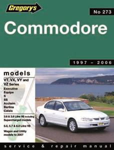 Commodore VT VTII VX VXII 1997-2002 6 & 8 Cylinder Service And Repair Manual