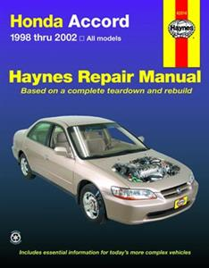 Honda Accord 1998-2002 Repair Manual