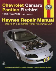 Chevrolet Camaro And Pontiac Firebird 1993-02 Repair Manual