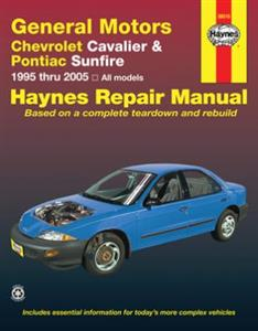 Chevrolet Cavalier & Pontiac Sunfire (NZ Toyota Cavalier) 1995-04 Repair Manual