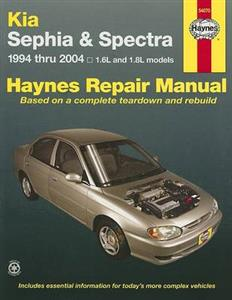 Kia Sephia 1994-2001 & Spectra (NZ Mentor) 1994-2004 Petrol Repair Manual 1.6 & 1.8