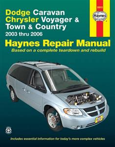 Dodge Caravan And Chrysler Voyager And Town & Country 2003-06 Repair Manual
