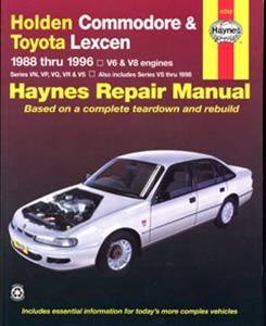 Holden Commodore VN VP VQ VR VS 1988-1996 Repair Manual 6 & 8 cylinder