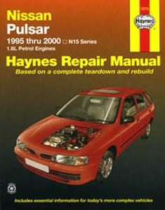 Nissan Pulsar (NZ Sentra) N15 1995-2000 Repair Manual 1.6 Petrol