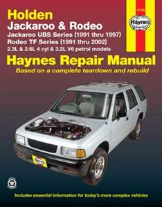 Holden Jackaroo 1991-97 & Rodeo 1991-2002 Petrol Repair Manual (Isuzu Bighorn/Trooper)