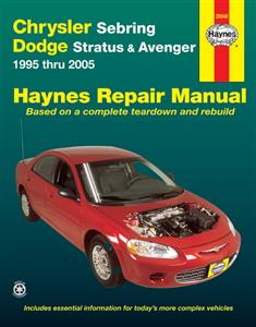 Chrysler Sebring Dodge Stratus & Avenger 1995-2005 Repair Manual