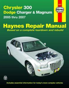 Chrysler 300 And Dodge Charger & Magnum 2005-07 Repair Manual NOT SRT8 Diesel or 4WD