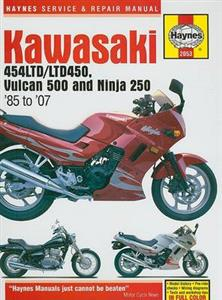 Kawasaki 454LTD/LTD450 Vulcan 500 and Ninja 250 1985-2007 Repair Manual incl GPX250R & GPZ250R