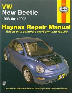 VW Beetle 1998-2005 Repair Manual 1.8 2.0 Petrol 1.9 Ecodiesel NEW ED AVAIL