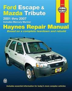 Ford Escape & Mazda Tribute 2001-07 Repair Manual 2.0 2.3 3.0 Petrol