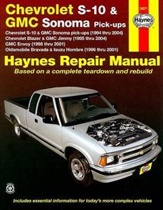Chevrolet S-10 And Blazer GMC Sonoma And Jimmy 1994-04 Repair Manual