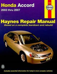 Honda Accord 2003-07 Repair Manual (Not NZ Accord Euro)