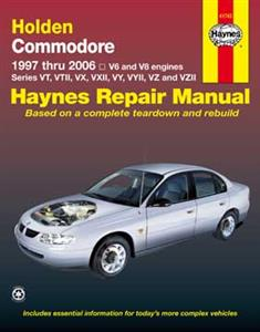 Holden Commodore VT VX VY VZ 1997-2006 Repair Manual 6 & V8