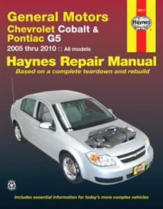 Chevrolet Cobalt 2005-10, Pontiac G5 2007-09 & Pontiac Pursuit 2005-06 Repair Manual