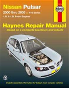 Nissan Pulsar N16 (Bluebird Sylphy) 2000-05 Repair Manual 1.6 1.8 Petrol