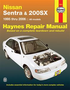 Nissan Sentra & 200SX 1995-2006 Repair Manual NOT NZ MODELS