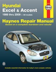 Hyundai Excel & Accent 1986-2009 Repair Manual